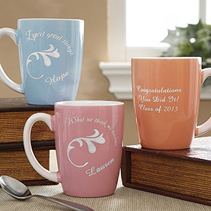 Inspirational Message Personalized Pastel Coffee Mugs for Women - 6952