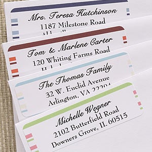 Custom Return Address Labels - Simple Stripes - 6954