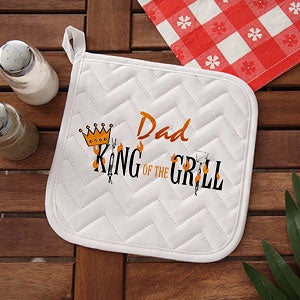 King Of The Grill Personalized BBQ Grill Apron & Potholder - 6994