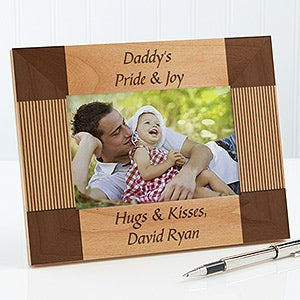 personalized engraved wood picture frames for fathers create your own 6999