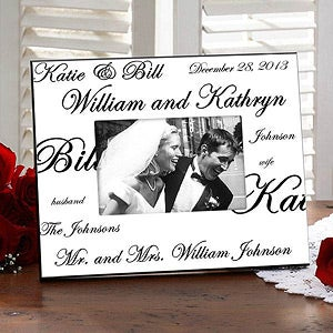 Personalized Wedding Picture Frames - Mr and Mrs Collection - 7035
