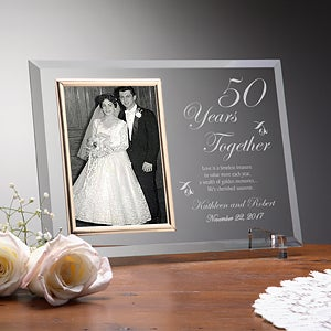 Personalized Glass Anniversary Picture Frames - Reflections - 7036