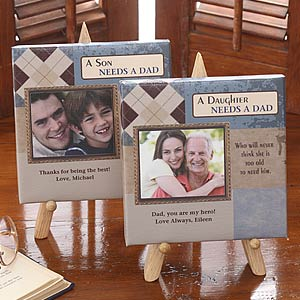 Father's Personalized Photo Canvas Gift - Why I Need Dad - 7067