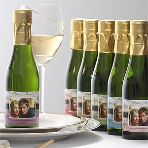 Personalized Wine Bottle Wedding Favors - Damask - 7093D
