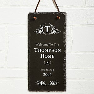 Date Established Personalized Family Name Wall Plaque - 7104