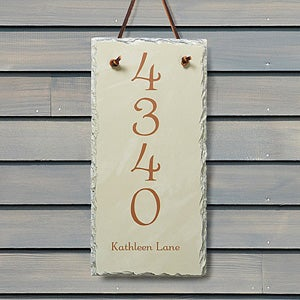 House Number Personalized Slate Address Plaque - 7105