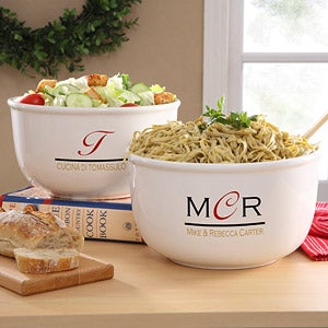 Chef's Monogram Personalized Serving Bowl - 7110