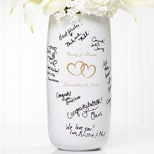 Personalized Signature Wedding Vase - Joined Hearts - 7121