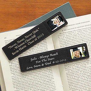 Personalized Leather Photo Bookmarks - Graduation Inspirations - 7124