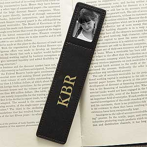 Personalization Mall Black Leather Personalized Photo Bookmarks at Sears.com