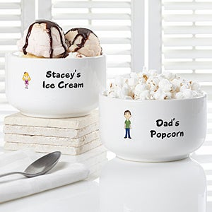 Personalized Ice Cream Bowls - Family Characters - 7134