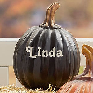 Personalized Decorative Halloween Pumpkins - 7144