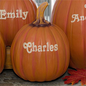 Personalized Decorative Halloween Pumpkins - 7144