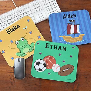 Personalization Mall Kids Designs Personalized Mouse Pads for Boys at Sears.com