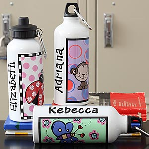 Personalized Water Bottles for Girls with Kids Designs - 7157