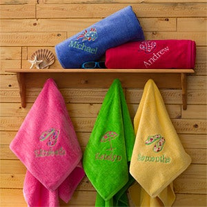 Beach Fun Personalized Beach Towels - 7162