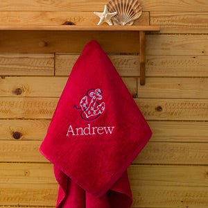 Personalization Mall Red Personalized Beach Towels - Beach Fun at Sears.com