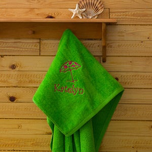 Personalization Mall Green Personalized Beach Towels - Beach Fun at Sears.com