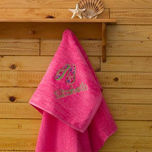 Personalization Mall Beach Fun Personalized Pink Beach Towels at Sears.com