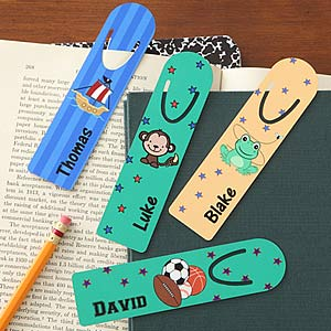 Kids Designs Personalized Boys Bookmarks - 7164