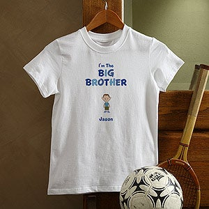 Personalization Mall Boy Cartoon Character Personalized Kids T-Shirts - I'm The Brother at Sears.com