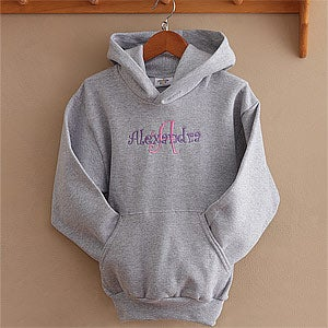 Personalization Mall Personalized Grey Girls Sweatshirt - All About Me at Sears.com