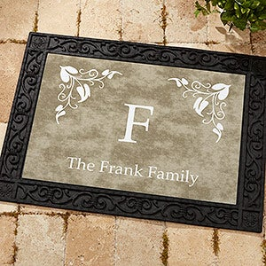 Personalized Family Doormats - Elegant Monogram - 7198