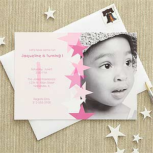 Birthday Star Personalized Birthday Invitations - 7207