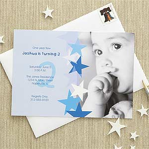 Blue personalized birthday invitations for boys birthday star birthday star personalized birthday invitations 7207 filmwisefo