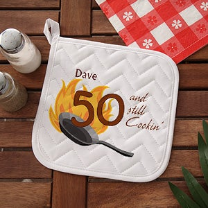Personalized Birthday BBQ Grill Aprons & Potholders - Still Cooking - 7216