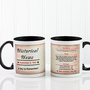 Personalized Coffee Mugs - The Day You Were Born - 7218
