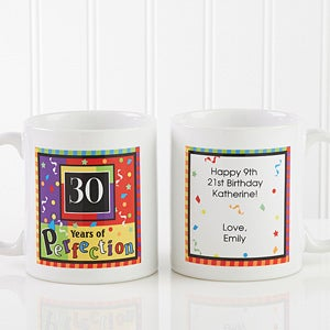 Personalized Birthday Coffee Mugs - Aged to Perfection - 7219