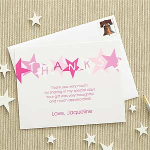 personalized kids thank you cards stars 7221 - Personalized Thank You Cards