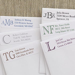 Custom Monogram Personalized Address Labels - 7232