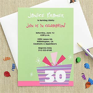 Personalized Birthday Party Invitations - Birthday Celebration - 7241