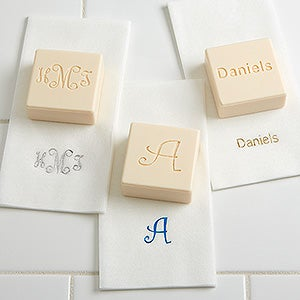 custom monogram personalized guest soaps towels set