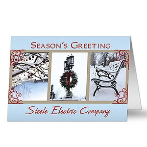 Winter Scenes Business Holiday Greeting Cards - 7305