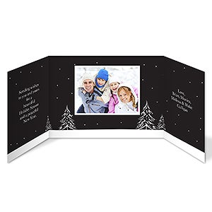 Snowscape Personalized Photo Christmas Cards - 7325