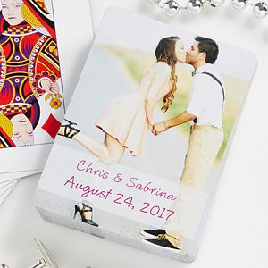 Personalized Wedding Favor Photo Playing Cards - 7331
