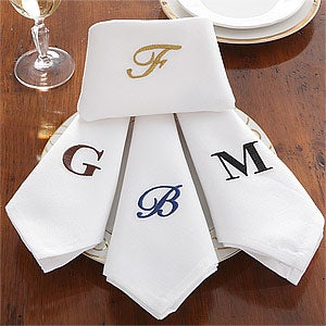 Personalized Dinner Napkins with Monogram - 7346