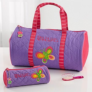 Personalized Kids\\\' Sports Duffel Bags Girls Personalized Butterfly