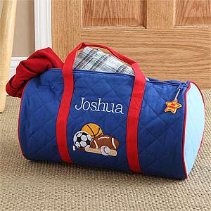 Boys Personalized Sports Duffel Bag & Travel Case - 7348
