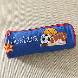 Personalization Mall Boys Personalized Sports Pencil Cases - Baseball, Football, Basketball, Soccer at Sears.com