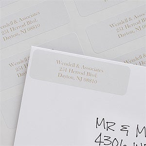 Silver & Gold Personalized Return Address Labels - 7354