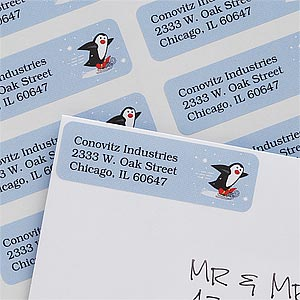 Holiday Penguin Return Address Labels - 7365