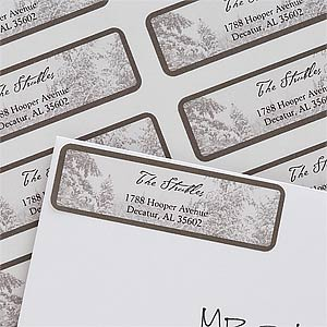 Personalization Mall Winter Wonderland Personalized Holiday Address Labels at Sears.com