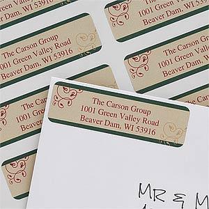 Personalization Mall Custom Printed Return Address Labels - Elegant Swirls at Sears.com