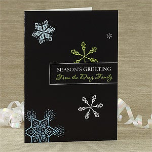 Buy personalized e greeting cards - Personalized Snowflakes Greeting Card