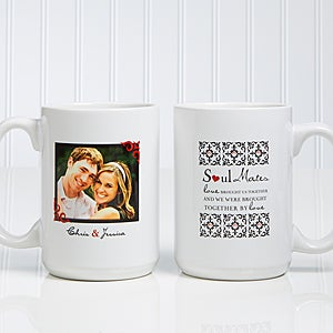 Soul Mates Personalized Photo Coffee Mugs - 7419