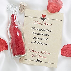Personalized Love Letter In A Bottle - #7445
